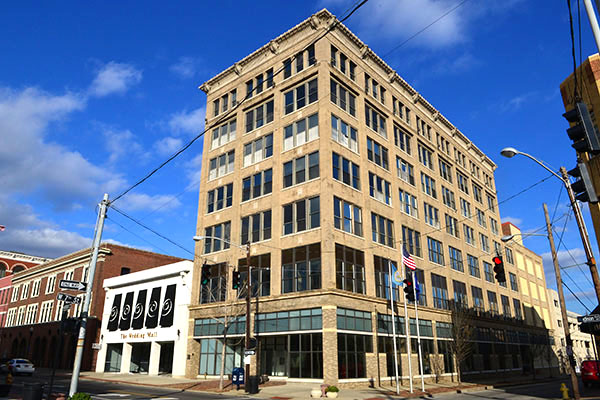 The former Coppins Building is being redeveloped as the Hotel Covington