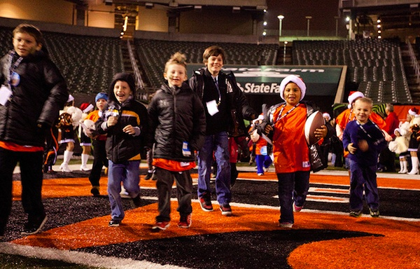 Kicks for Kids hosts a special Christmas party at Paul Brown Stadium on Dec. 15