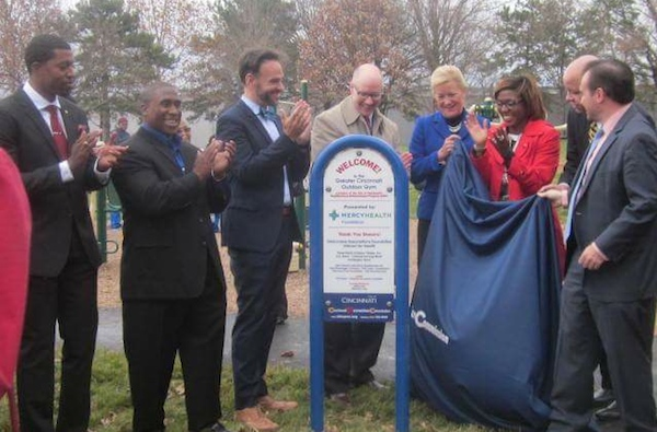 City and neighborhood leaders open Roselawn's year-round gym/playground last month