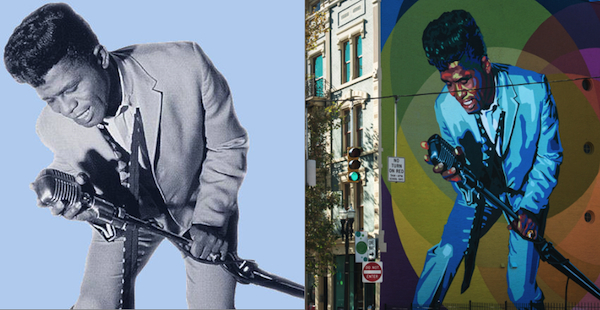 James Brown got his start at King Records; his iconic image from those days was memorialized last year on an ArtWorks mural in OTR
