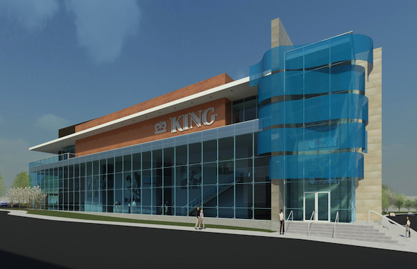 Rendering of the proposed King Studios facility on Montgomery Road in Evanston