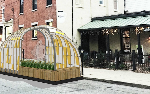 Wish-Igloo in front of Left Bank Coffeehouse
