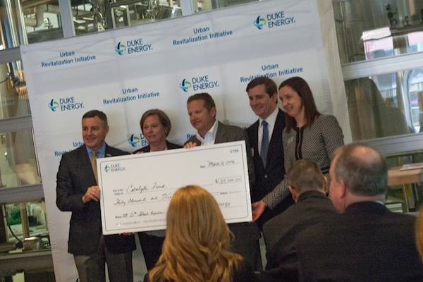 The Catalytic Fund accepts its Duke Energy grant for Covington building restorations