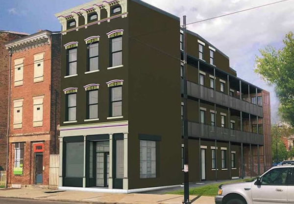 Rendering of Artichoke building at 1824 Elm St. just north of Findlay Market