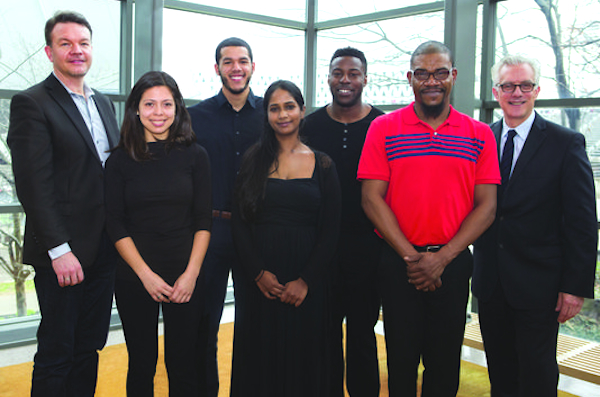 The first class of CSO/CCM Diversity Fellows includes Emilio Carlo, third from left