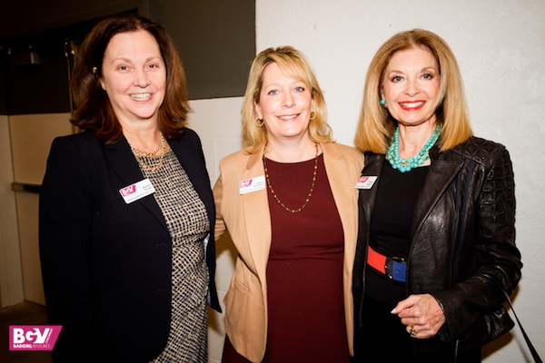 Bad Girl Ventures leadership (L-R): Board Chair Karen Finan, Executive Director Nancy Aichholz and ex-Board Chair Cheryl Stamm