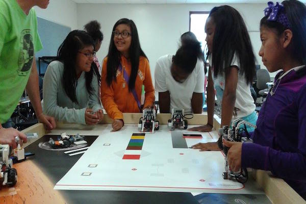 Students learn during Summer of STEM's IGNITE Engineering program at Roberts Academy