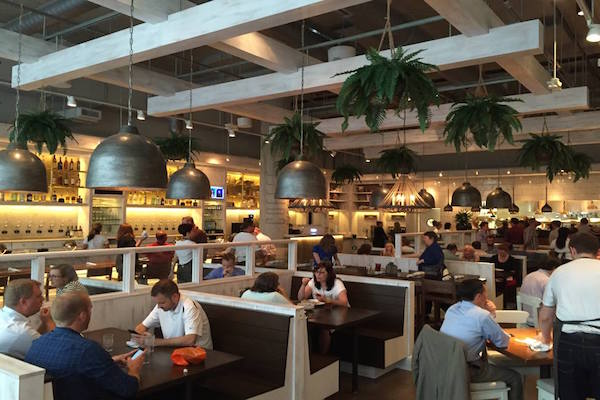 Customers Enjoy Their Meals On The First Day Of Business At Maplewood Kitchen And Bar