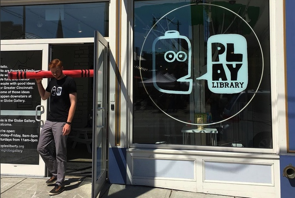 Play Library is open Wednesday-Sunday at the Globe Gallery across from Findlay Market