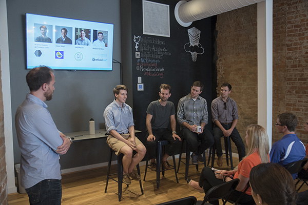 NewCo session with UpTech startup founders in Covington