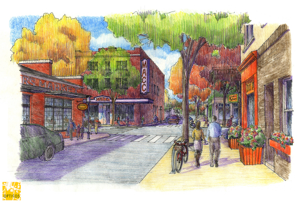 Renderings of what Madisonville could look like, with a bit more investment and redevelopment.