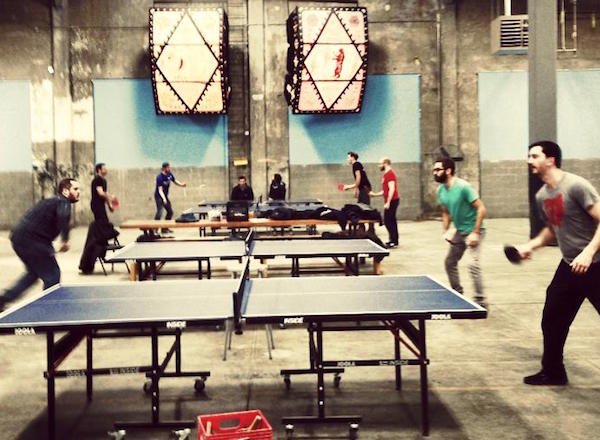 The World Famous OTR Ping Pong League meets at Rhinegeist on Thursdays.