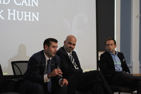 Founders from different startups form a panel at a past Founder Institute event.
