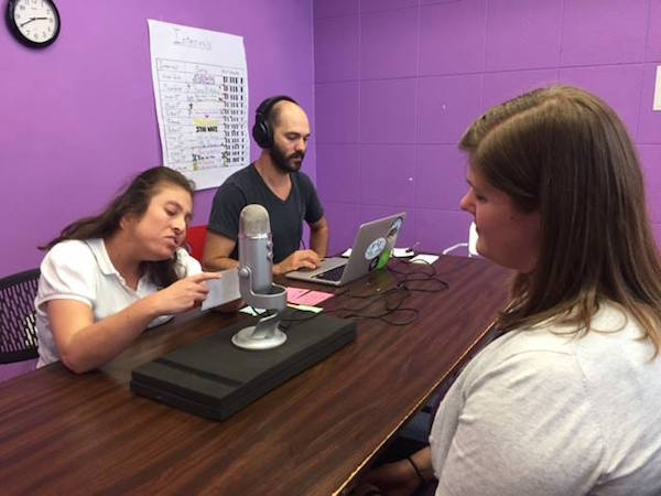 "The Melodic Connections podcast team conducting its first interview for ""Hero Radio. Stories Beyond the Music."""