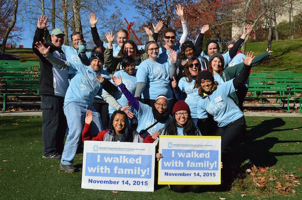 The Interfaith Hospitality Network of Greater Cincinnati's staff and volunteers at last year's Walk with Family event.