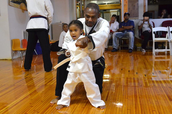Grand Master Martess Miller leads students at Miller's Karate Studios.