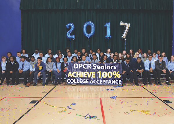 This is the third year that DePaul Cristo Rey seniors have achieved 100 percent college acceptance.