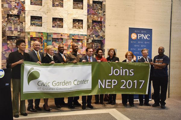 The City of Cincinnati will partner with the Civic Garden Center and LISC, among others, for two NEP neighborhoods in 2017.