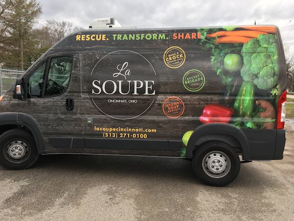La Soupe's mobile soup mobile will pull up to Union Hall on Feb. 14.
