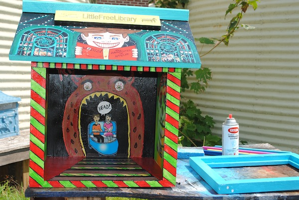 Patricia Arroyo's Little Free Library art recalls an old amusement park in Asbury Park, N.J.