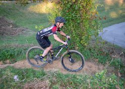 Lee Ransdell trail bikes several times a week at Devou Park.
