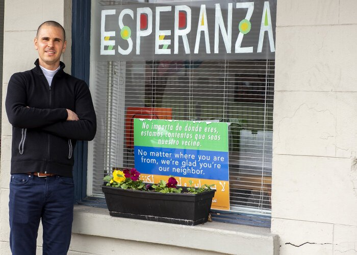Reid Yearwood is the director of the Esperanza Latino Center in Covington.