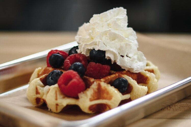 Ironworks Waffle Cafe in Springfield serves a variety of sweet and savory waffle options, as well as custom coffee creations.