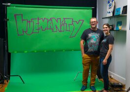 Molly Berrens and Matthew Grote of Covington-based Spotted Yeti Media created motion graphics for the Freedom Center.