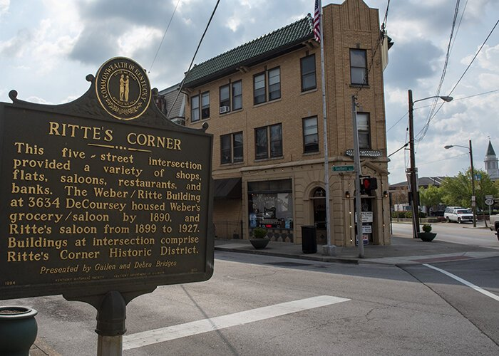 Ritte's Corner is a walkable, bikeable business district in Covington's Latonia neighborhood.