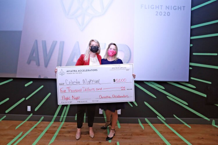 Software developer Celeste Maksim won the Flight Night grand prize.