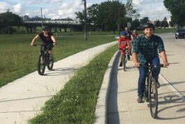 Tri-State Trails organized a series of slow rides in Newport as part of its ConnectNKY program.