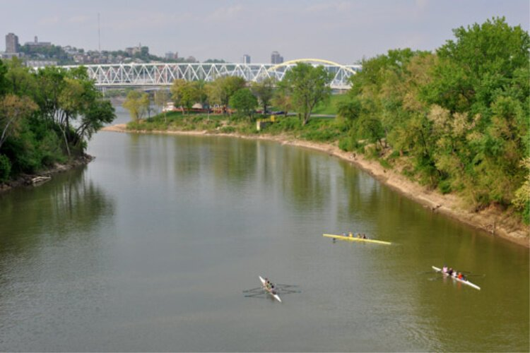 The Licking River drains 3,600 squre miles of the state of Kentucky.